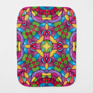 Gold Miner Kaleidoscope   Burp Cloth