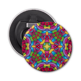 Gold Miner Kaleidoscope   Magnetic Bottle Openers
