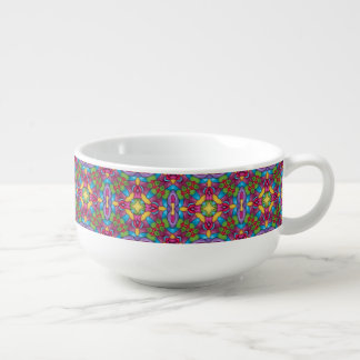 Gold Miner Kaleidoscope  Soup Mugs