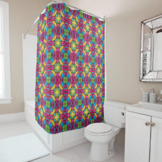Gold Miner Kaleidoscope  Vintage Shower Curtain