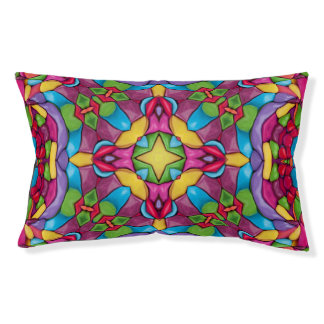 Gold Miner  Vintage Kaleidoscope Dog Bed