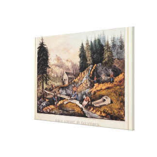 Gold Mining in California Canvas Print