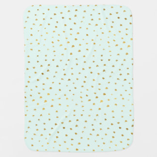 Gold Mint Glam Dot Chic Baby Blanket