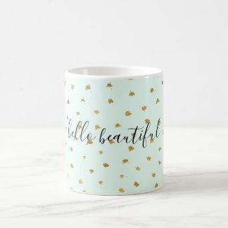 Gold Mint Glam Dot Chic Coffee Mug