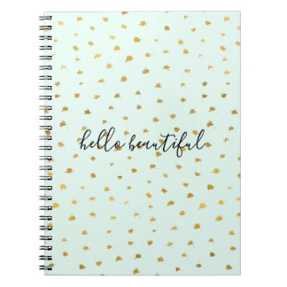 Gold Mint Glam Dot Chic Notebook
