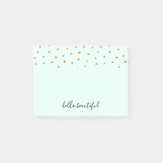 Gold Mint Glam Dot Chic Post-it Notes