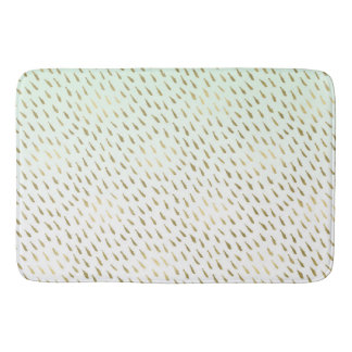 Gold Mint White Ombre Abstract Bath Mat