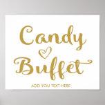 Gold Modern Calligraphy Candy Buffet print