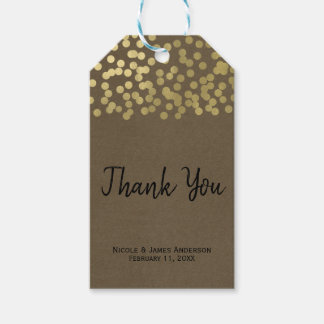 Gold Modern Chic Rustic Kraft Chic Wedding Favor Gift Tags