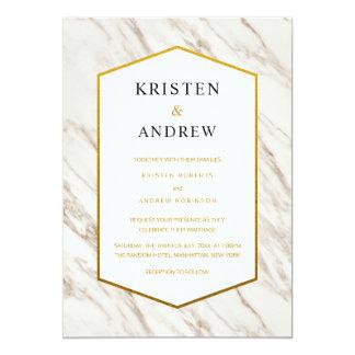 Gold Modern | Marble Wedding Invitation