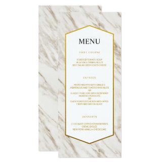 Gold Modern | Marble Wedding Menu Card