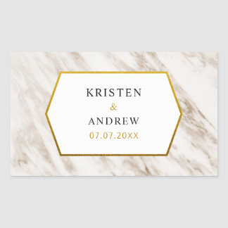 Gold Modern | Marble Wedding Stickers