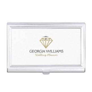 Gold Modern Wedding Diamond Illustration Business Card Holder