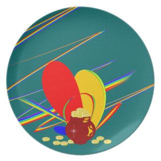 Gold money ang magic rainbow Plate