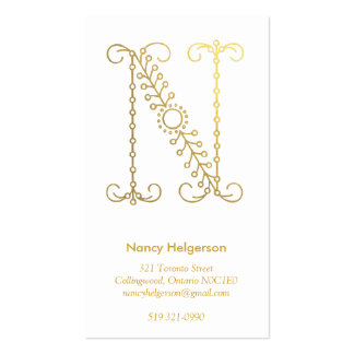 gold Monogram Business Card