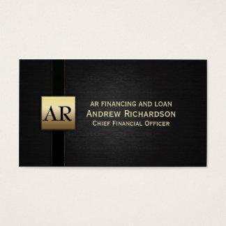 Gold Monogram Business Card