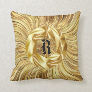 Gold Monogram Cushion Cover