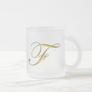 Gold Monogram F Mugs and Steins