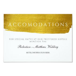 Gold Monogram Glam and Elegant Wedding Hotel Card