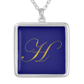 Gold Monogram H Initial Necklace