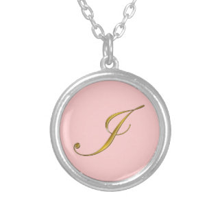 Gold Monogram I Initial Necklace