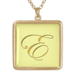 Gold Monogram Initial E Necklace
