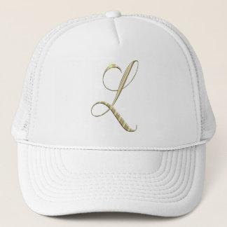 Gold Monogram Initial L Trucker Hat
