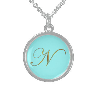 Gold Monogram N Initial Necklace