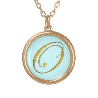 Gold Monogram O Initial Necklace