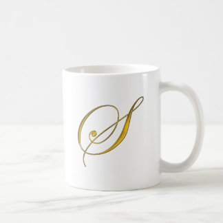 Gold Monogram S Coffee Mug