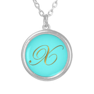Gold Monogram X Initial Necklace