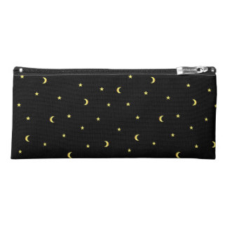 Gold Moon and Stars Pencil Case