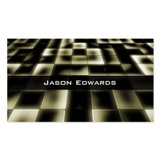 Gold Mosaic Modern Professional Business Card