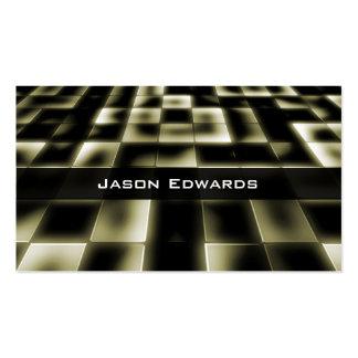 Gold Mosaic Modern Professional Business Card