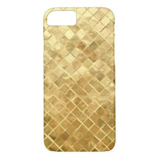 Gold Mosaic tiles diamond iPhone 7 Case