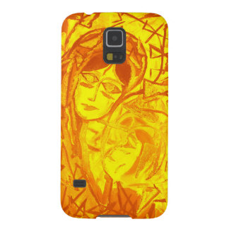 Gold Mother and Child Case For Galaxy S5
