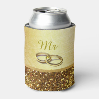 """Gold """"Mr"""" Can Cooler Oozie"""