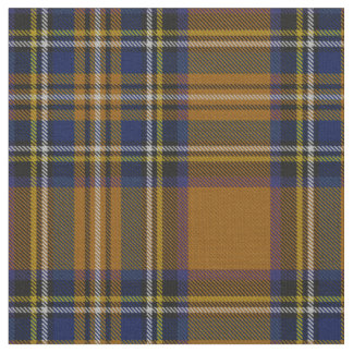 Gold multi color, blue, purple yellow stripe plaid fabric