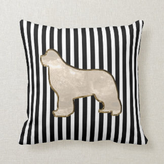 Gold multi side newfoundland dog pillow