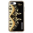 Gold Music Notes Design Incipio DualPro Shine iPhone 8 Plus/7 Plus Case