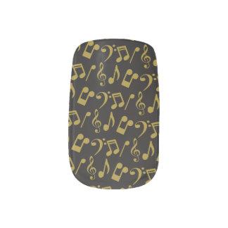 Gold Music Notes Nail Wraps