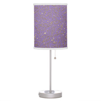 Gold Music Notes On Lavender Or Any Color Lamp