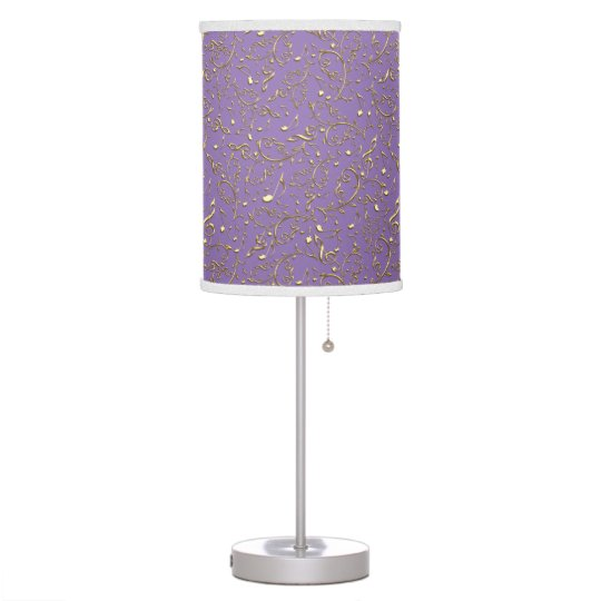 Gold Music Notes On Lavender Or Any Colour Lamp