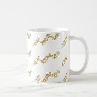 Gold Musical Note Mug