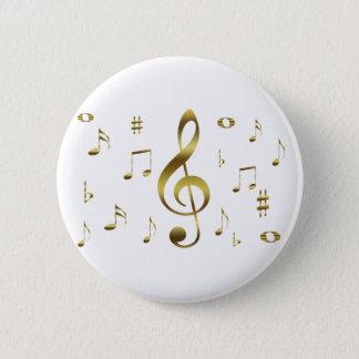 Gold Musical Notes Button
