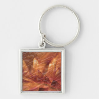 Gold n Copper Sheet :  Lotus Engraved Design Keychain