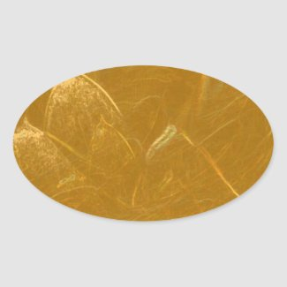 Gold n Copper Sheet : Lotus Engraved Design Oval Stickers