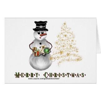 Gold N Glitter Snowman Card