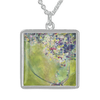 Gold N Klimt Sterling Silver Necklace