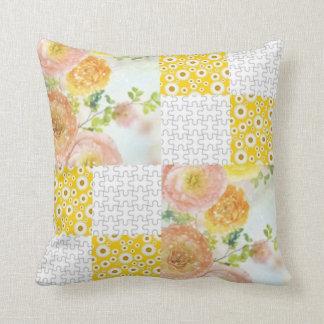 Gold 'n Pink Posey Pillow